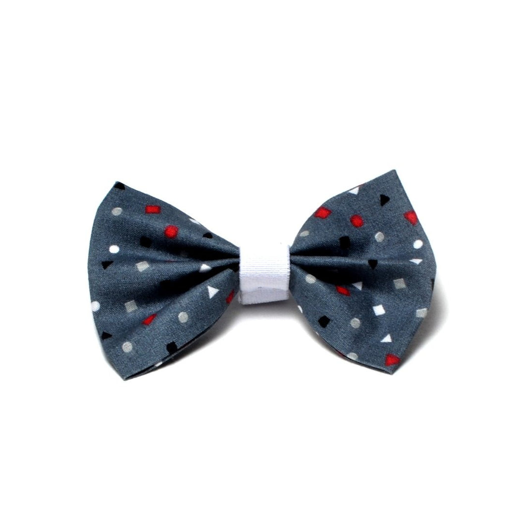 "The ""Color shapes"" Dog Bow Tie - ArgusCollar"