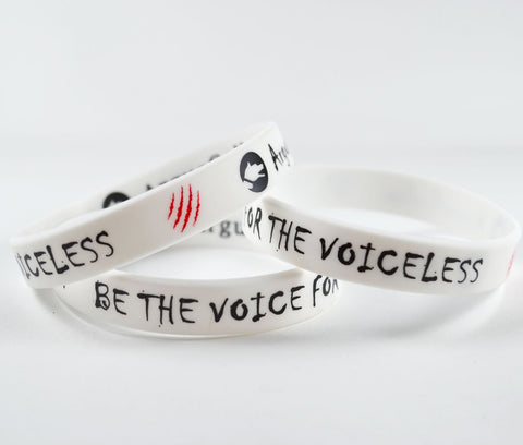 "Silicone Bracelet - ""Be the voice for the voiceless"""