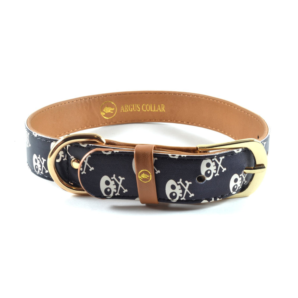 "The single ""Skull & Bones"" Collar - ArgusCollar"