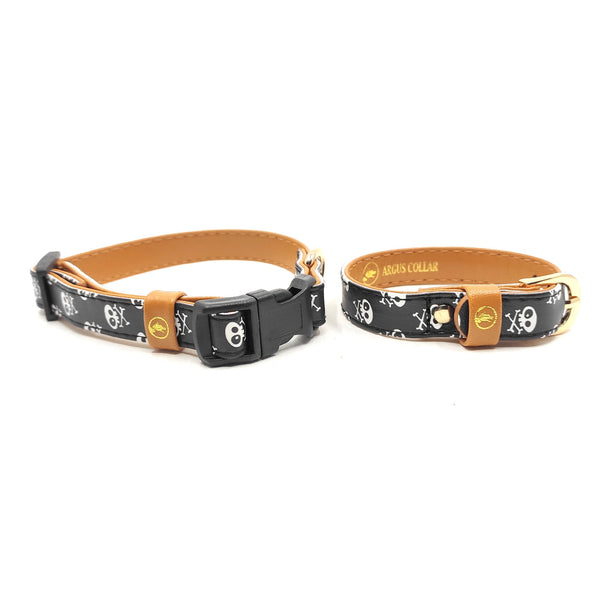 "The ""Skull & Bones"" Cat Collar - ArgusCollar"