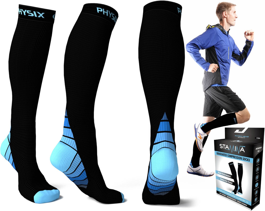 Top 10 Compression Socks in USA - Physix Gear Stamina Athletic Fits #3
