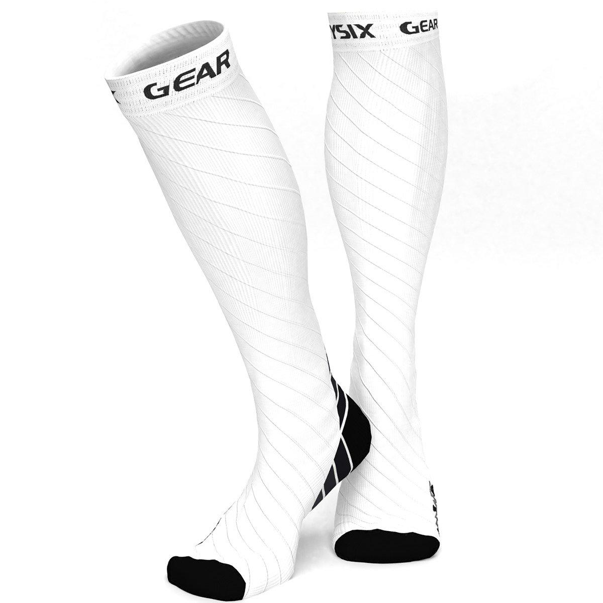 Compression Socks - Black & White-Physix Gear Sport