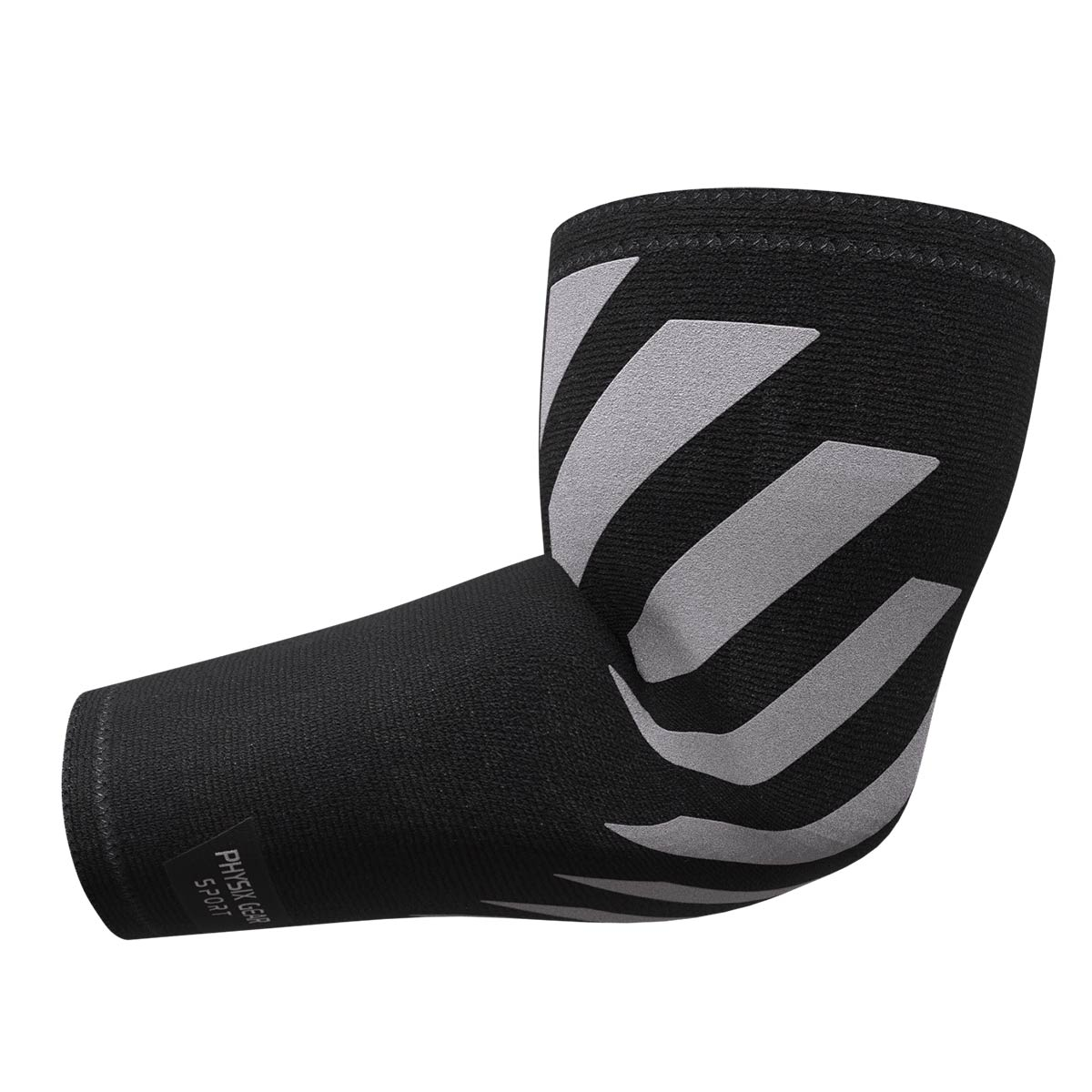 Elbow Sleeves - Grey & Black (1 Pack)-Physix Gear Sport