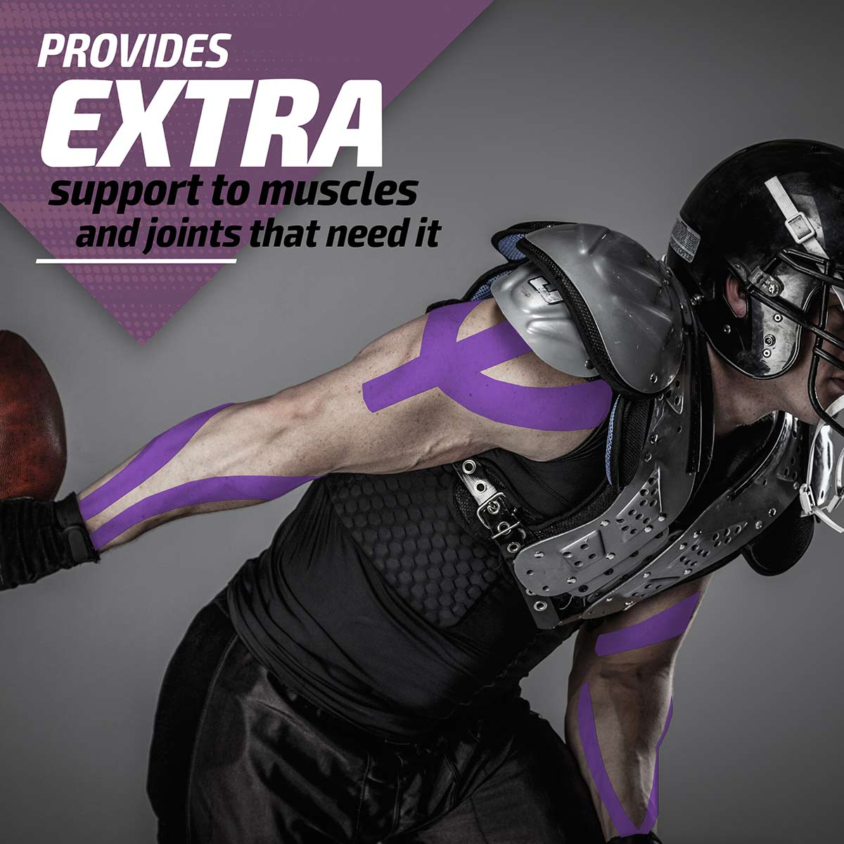 Kinesiology Tape - Purple-Physix Gear Sport