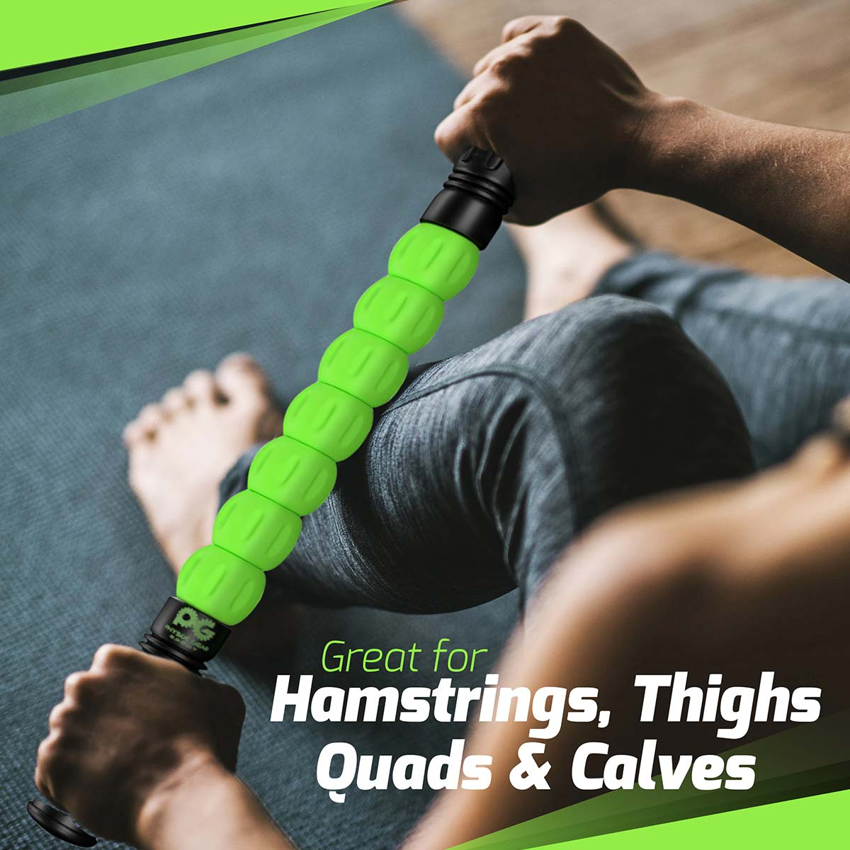 Massage Sticks - Green (1 Pack + eGuide)-Physix Gear Sport