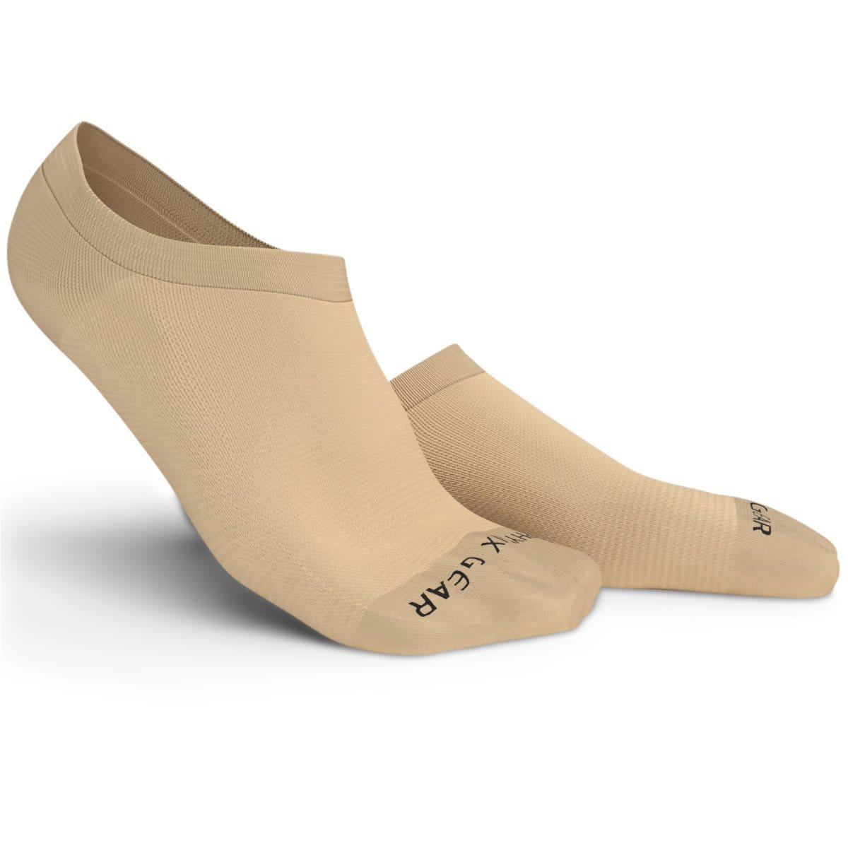 No Show Socks - Beige 3 Pairs (Ankle High)-Physix Gear Sport