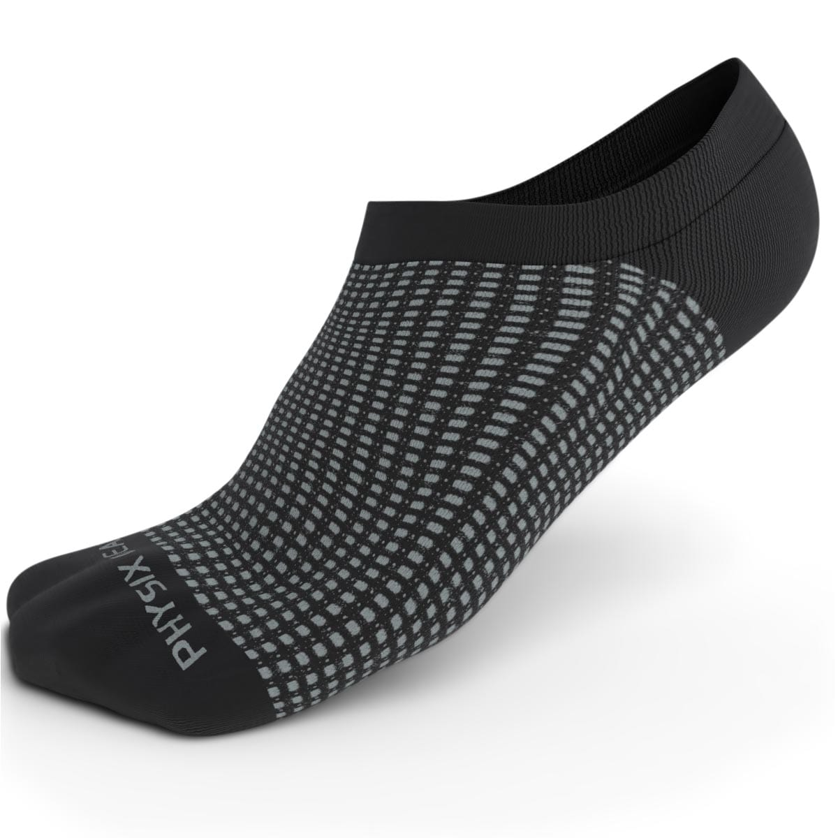 No Show Socks - Black & Grey 3 Pairs (Ankle High)-Physix Gear Sport