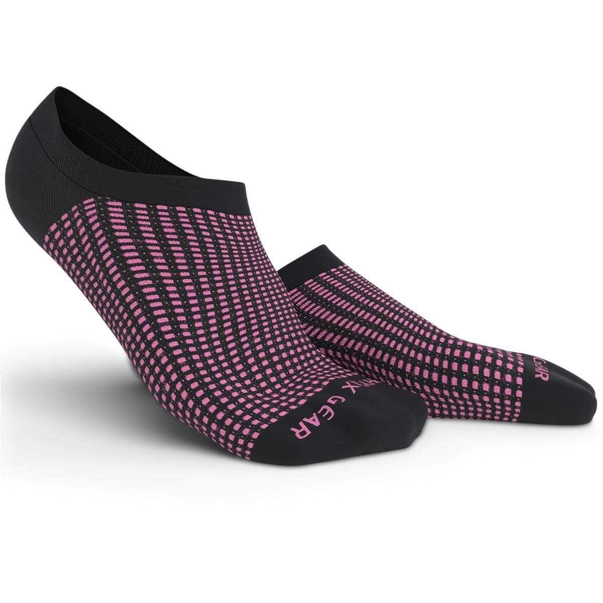 No Show Socks - Black & Pink 3 Pairs (Ankle High)-Physix Gear Sport