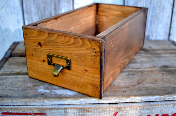 Card Catalog Library Drawer Box - maidenlaneboutique