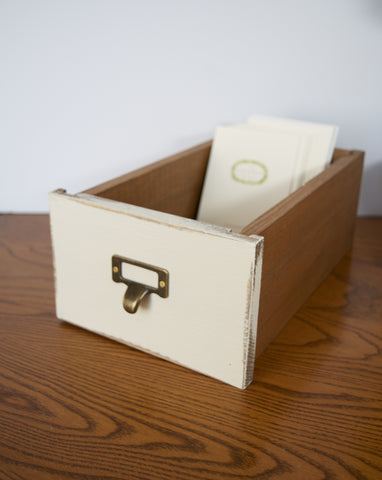 Reproduction Library Card Catalog Drawer Box Storage