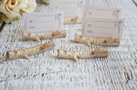 Birch Branch Place Card holders Rustic Wedding - maidenlaneboutique