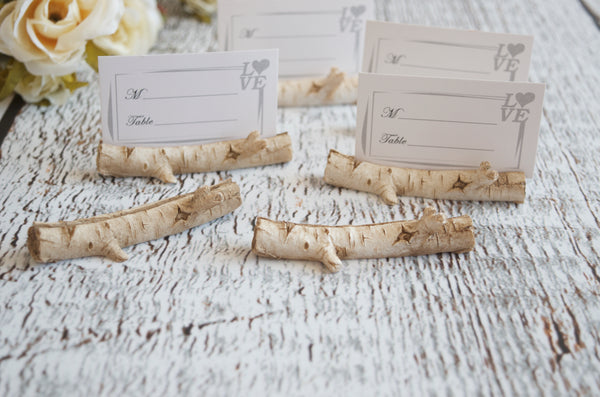 Birch Branch Place Card holders Rustic Wedding