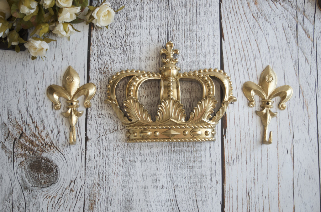 Gold Crown Canopy Set hooks Princess Bedroom - maidenlaneboutique