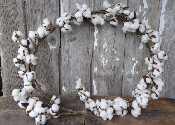 Natural Cotton Garland wag Wedding decor 6' - maidenlaneboutique
