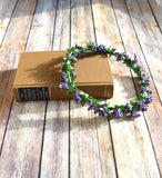 Lavender Lilac Flower Crown Halo - maidenlaneboutique