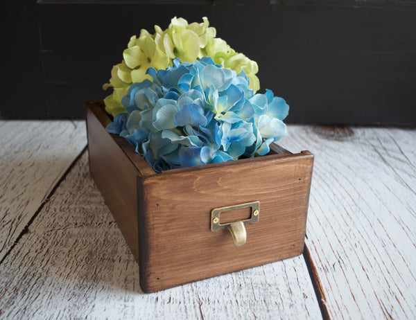 Library card catalog drawer wedding cards - maidenlaneboutique