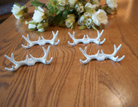 White Deer Antlers Place Card Holders Wedding Rustic - maidenlaneboutique