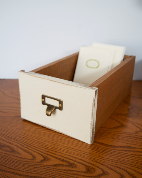 Library drawer card catalog reproduction - maidenlaneboutique