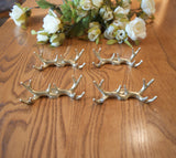 Antlers Place Card Holders, Wedding place card holders, Rustic wedding place card holders, GOLD deer antlers, Set of 6 Place card holders - maidenlaneboutique