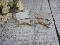 antler place card holders