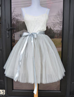 gray tulle skirt