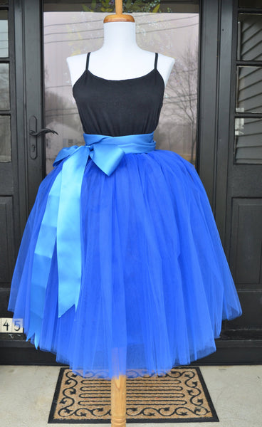 Womens Tutu, Cobalt Tulle skirt, Blue tulle skirt, tulle skirt, ballet skirt, Royal blue  tutu, bridesmaid dress,  wedding skirt, Plus size - maidenlaneboutique