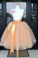 peach blush tulle skirt