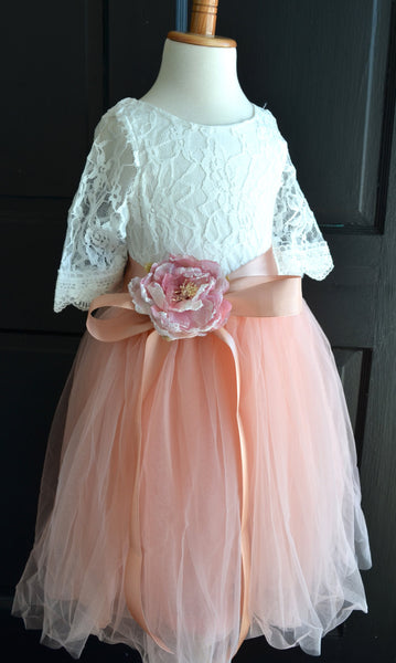 Coral Blush  Tutu dress skirt top set - maidenlaneboutique