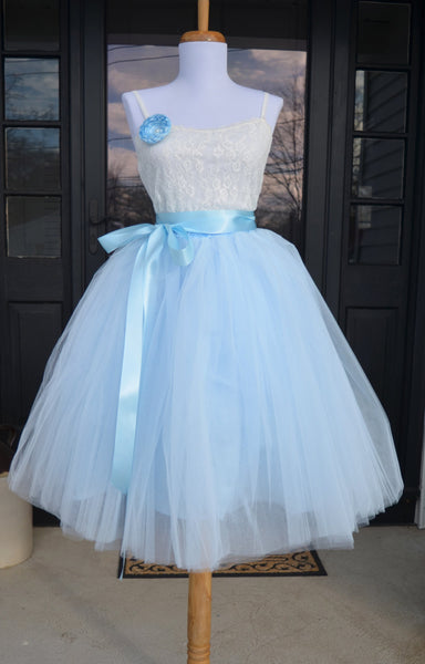 1420a8014f ... Soft Baby Blue Tulle skirt - maidenlaneboutique ...