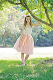 blush tulle skirt