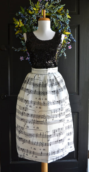 sheet music skirt