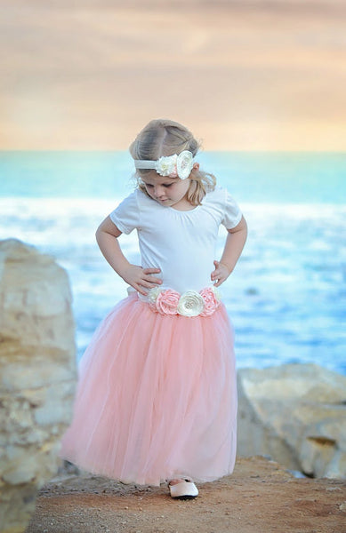 Blush Pink Tutu dress Top and Skirt set - maidenlaneboutique