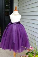 plum purple tutu skirt