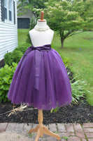 purple tutu tulle skirt