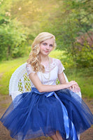 royal blue tulle skirt