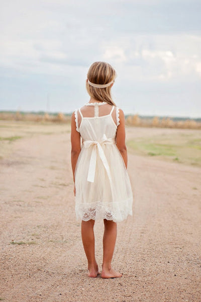 Vintage Inspired Ivory Lace Dress - maidenlaneboutique