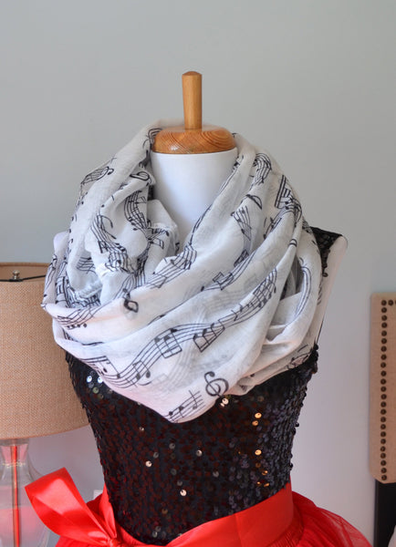 sheet music infinity scarf