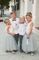 girls gray tulle skirt