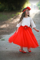 Red Tutu Long Tulle Skirt - maidenlaneboutique