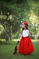 Red Tutu dress blouse headband sash - maidenlaneboutique