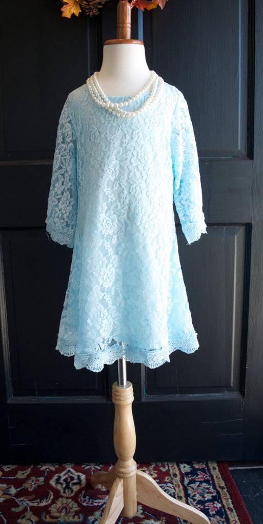 Light Blue Lace Dress - maidenlaneboutique
