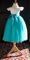 tiffany blue blower girl dress