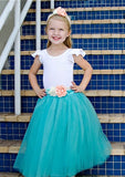 turquoise tulle skirt