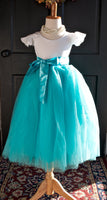 tiffany blue tulle skirt