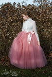 Long Tutu Rose Pink Tulle skirt - maidenlaneboutique