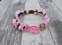 flower girl headpiece pink