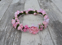 pink rose flower headpiece