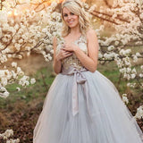 pale gray tulle skirt