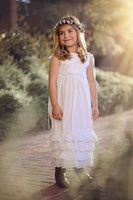 rustic wedding flower girl dress