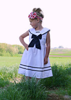 girls white nautical sailor dress